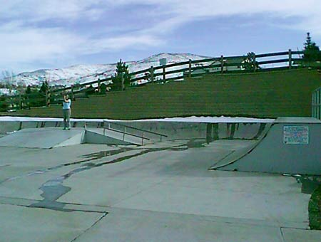 3. View to the south. Quarterpipe and fly-box