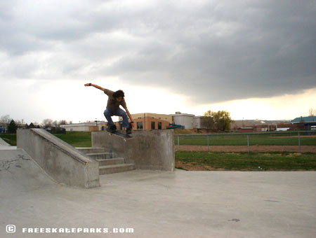 4. Lakewood Link Skatepark - Local kickflippin' over a set of four!