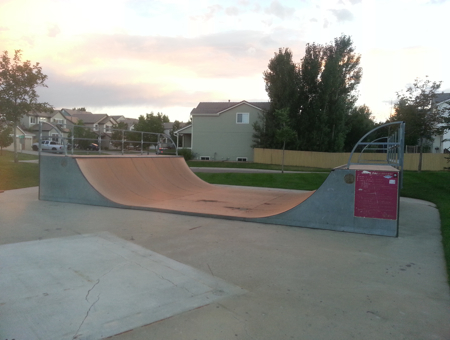 16ft wide 4ft tall half-pipe