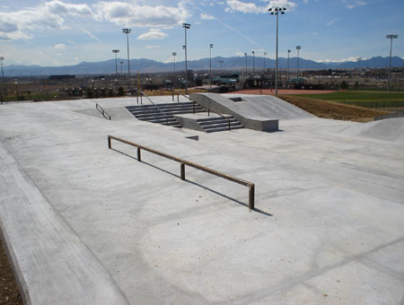 Westminster Skatepark - A look at the street course.