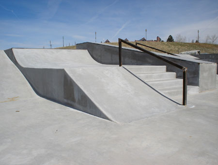 Westminster Skatepark - The other side of the street course.