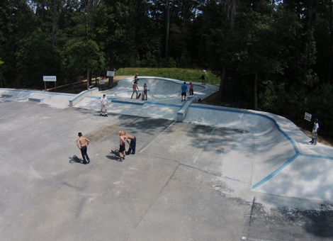 Epworth Skatepark - Aerial view